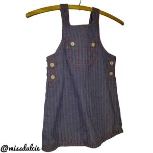 Baby Gap Denim Skirtall Jumper Overall Dress